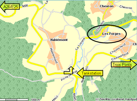 Route in Les Forges