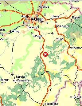Route vanaf Luik